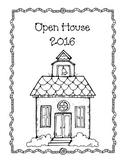 Open House Cover Sheet