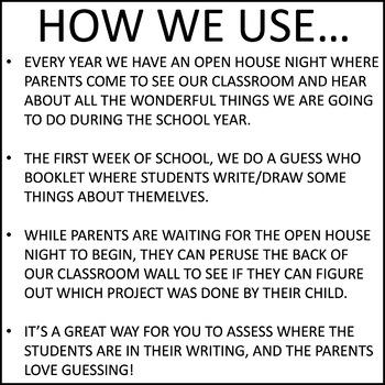 Open House / Back to School Craftivity