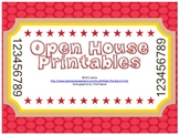 Open House, Curriculum Night, Back to School Night Printables