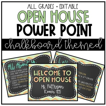Open House EDITABLE Power Point- Back to School!