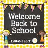 Scrappy Kids Open House Editable PowerPoint PPT