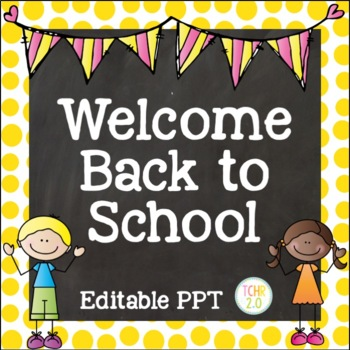 Open House Editable PowerPoint PPT Back to School Scrappy