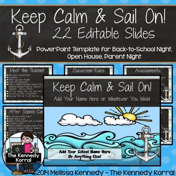 Open House or Back-to-School: Anchors - Editable PowerPoint