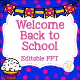 Cupcakes Open House Editable PowerPoint PPT