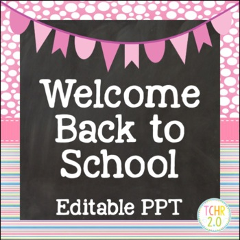 Open House Editable PowerPoint PPT Back to School Dots and