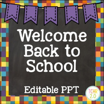 Open House Editable PowerPoint PPT Template Back to School