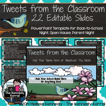 Open House or Back-to-School: Birds - Editable PowerPoint
