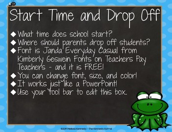 PPT Open House / Back-to-School: Frogs