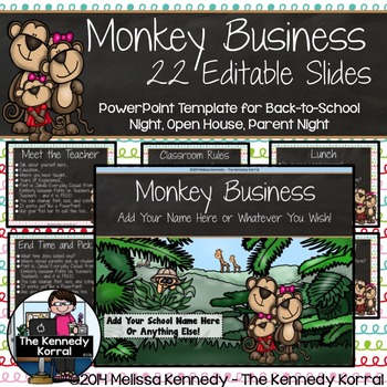 PPT Open House / Back-to-School: Monkeys