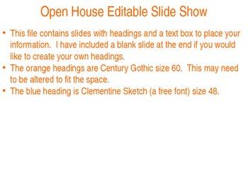 Open House Editable Slide Show