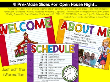 Open House EDITABLE Powerpoint
