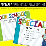 Open House EDITABLE Powerpoint