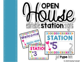 Open House {Editable} Station Signs