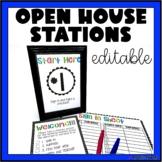 Open House Stations Editable | Meet the Teacher