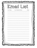 Open House Email List