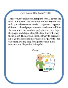 Open House Flip Book Freebie