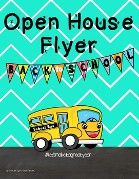 Open House Flyer Editable
