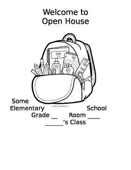 Open House Folder Covers (to color)