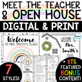 Meet the Teacher Template | Editable Open House Forms | Back to School Night