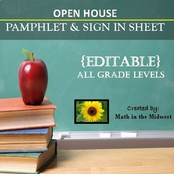 Open House Forms - {EDITABLE}