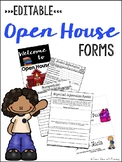 Open House Forms - EDITABLE!
