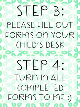 Open House Forms - Green Theme