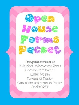 Open House Forms Packet