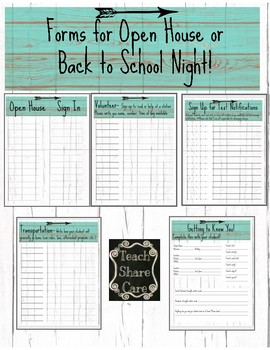 Open House Forms! Rustic Teal and distressed white wood decor