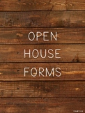 Open House Forms - Rustic Themed