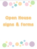 Open House Forms & Signs - Colored Dots