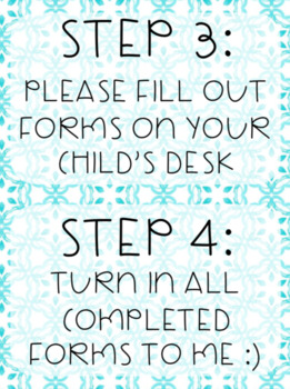 Open House Forms - Teal Theme