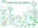 Open House Forms - Watercolor Themed