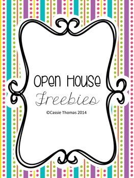 Open House Freebies