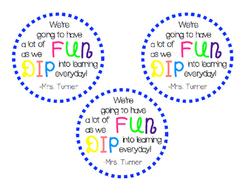 Open House Fun Dip Tag