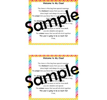 Open House Goodie Bag Tags