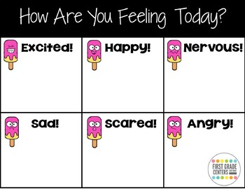 Open House How Are You Feeling? Freebie