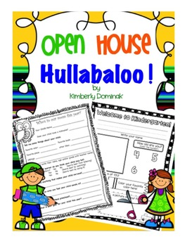 Open House Hullaboo! Back to School Goodies
