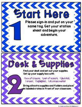 Open House Set:  Stations, Sign-Up Sheets & More