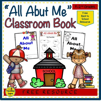 Open House Freeebie:  All About Me Classroom Book
