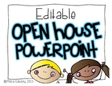 Open House Informational PowerPoint [Editable}