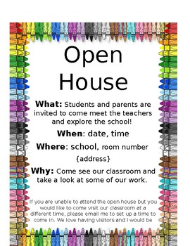 Open House Invitation By Christine Jarrell Tpt