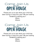 Open House Invitation - EDITABLE