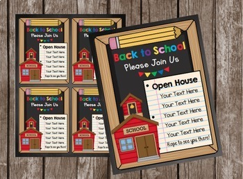 Open House Invitation - EDITABLE - Back to School - Meet the Teacher