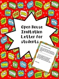 Open House Invitation Letter to Students in Super Hero Theme
