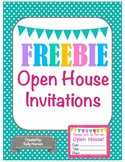 Open House Invitations FREEBIE