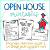 Open House Invitations, Portfolio Covers, and Classroom Tour/Scavenger Hunt