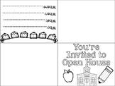 Open House/Back to School Invite FREEBIE