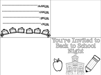 Open House/Back to School Invite FREEBIE