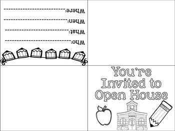 Open House Invite FREEBIE