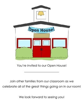 Open House Invitiation (PDF and Editable)